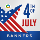 Independence Day Banner Set - GraphicRiver Item for Sale