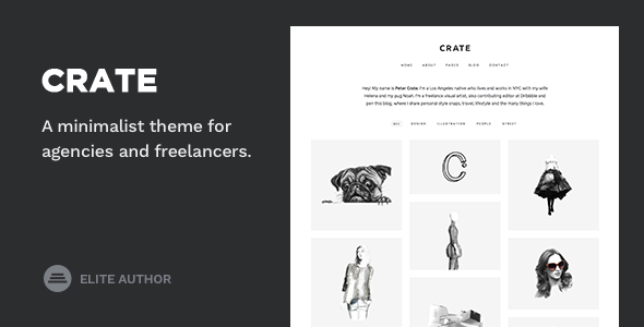 Crate - Minimalist WordPress Theme - Portfolio Creative