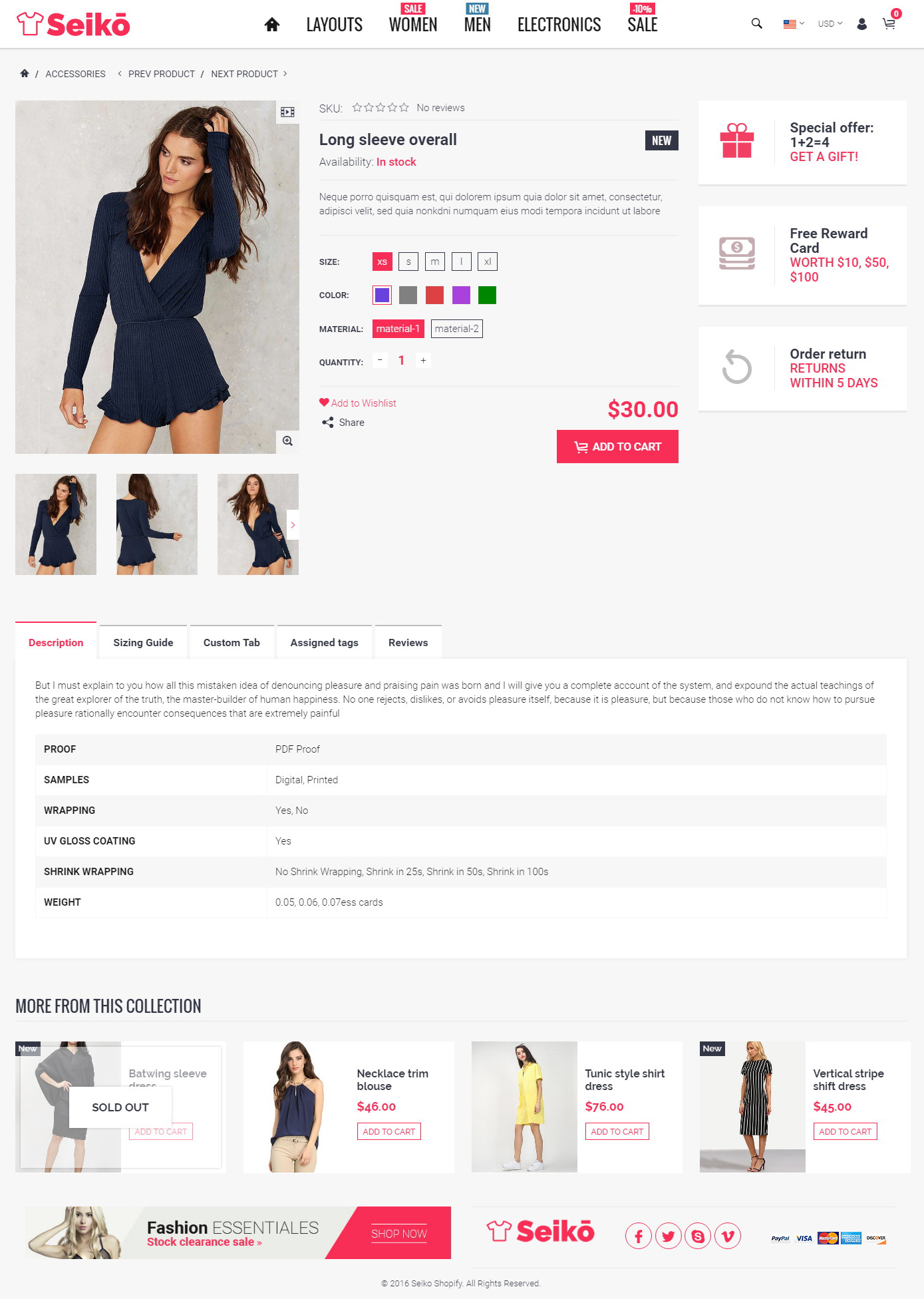 Seiko Shopify Theme NEW By Bigsteps ThemeForest - Shopify product template