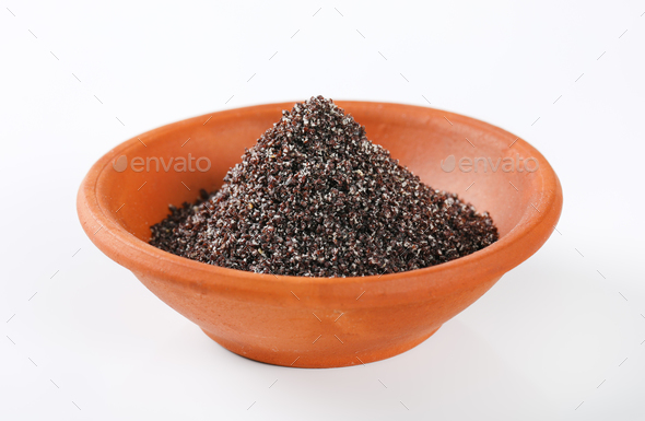 ground poppy seeds - Stock Photo - Images
