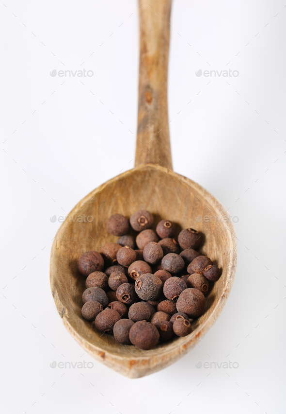 whole allspice berries - Stock Photo - Images