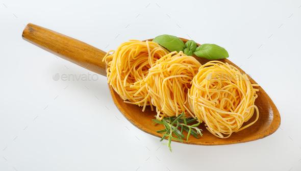 bundles of spaghetti pasta - Stock Photo - Images