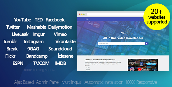 All in One Video Downloader - CodeCanyon Item for Sale