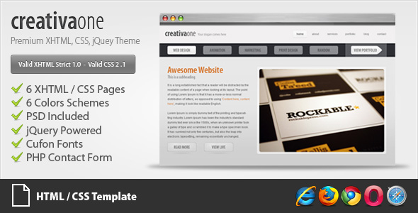Free Download creativaone - Creative HTML/CSS Theme Nulled Latest Version