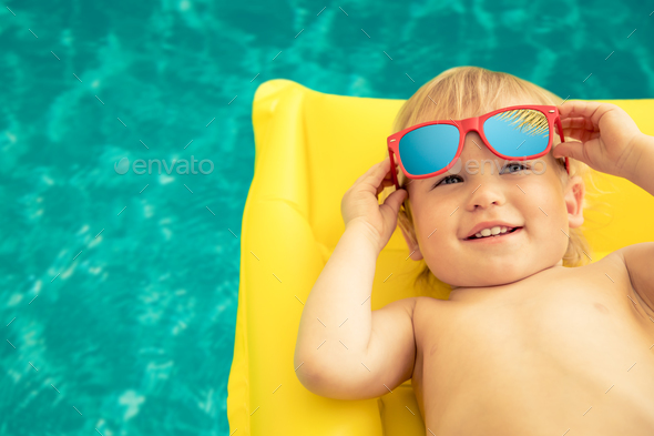 Funny baby boy on summer vacation - Stock Photo - Images