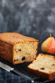 Fresh homemade delicious loaf cake with pears and prunes - PhotoDune Item for Sale