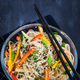 Delicious asian rice glass noodles with vegetables (wok) - PhotoDune Item for Sale