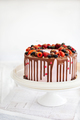 Delicious homemade cake decorated with chocolate and fresh berri - PhotoDune Item for Sale