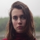 Face of Young Woman with Sad Look and Wet Hair in Rain, Cloudy Bad Weather - VideoHive Item for Sale
