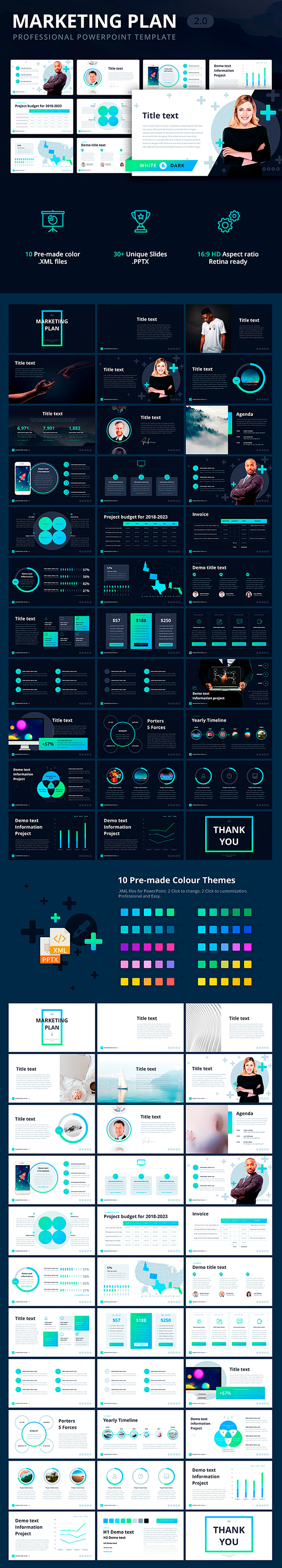 Marketing Plan 2.0 Template for PowerPoint - PowerPoint Templates Presentation Templates