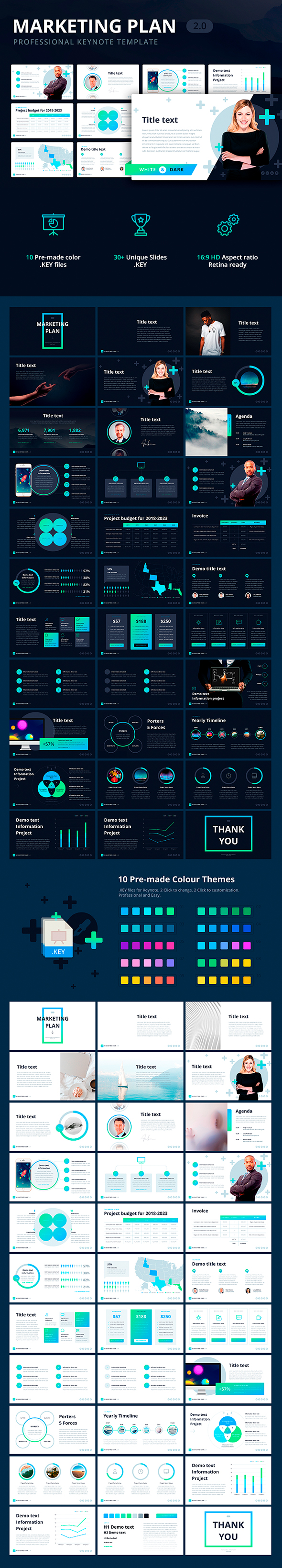 Marketing Plan 2.0 Template for Keynote - Keynote Templates Presentation Templates