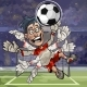 Cartoon Goalkeeper Catches the Ball - GraphicRiver Item for Sale