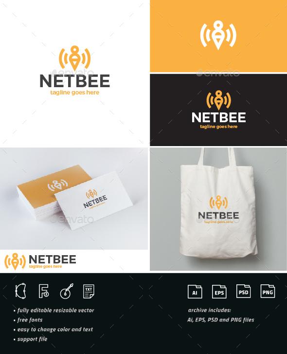 Net Bee Logo