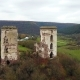 Aerial View of the Ruins of the Chervonohorod Castle. Ukraine - VideoHive Item for Sale