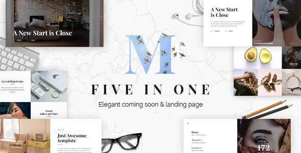 Mixio - Five in One Elegant Coming Soon and Landing Page Template - Under Construction Specialty Pages
