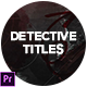 Detective Trailer - VideoHive Item for Sale