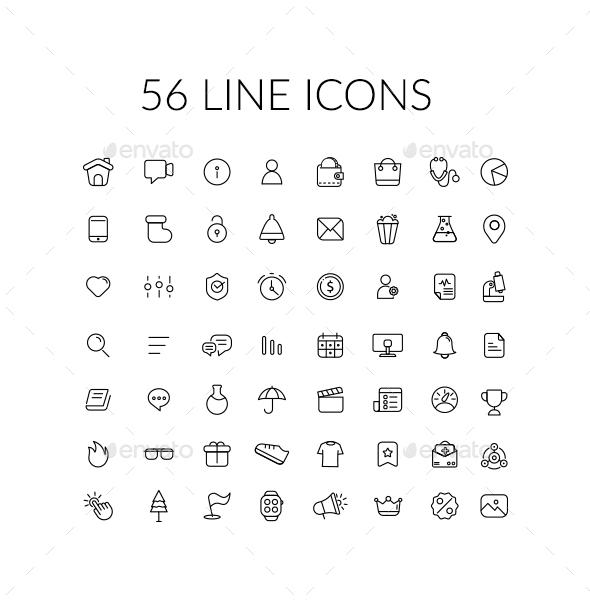 Line Icons - Web Icons