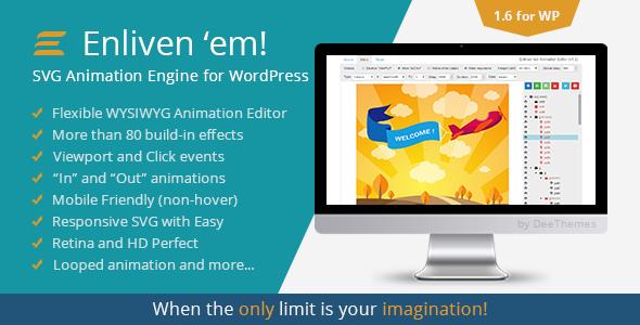 Enliven 'em! - SVG Animation Engine for WordPress - CodeCanyon Item for Sale
