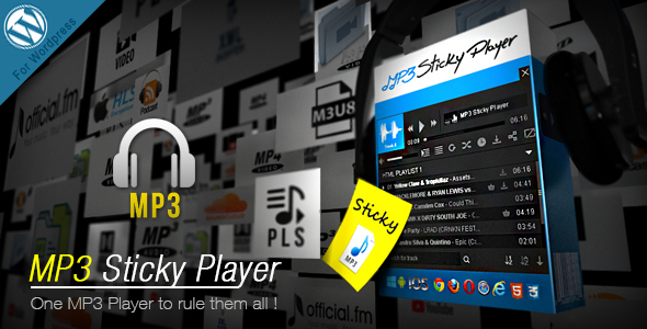 MP3 Sticky Player Wordpress Plugin - CodeCanyon Item for Sale