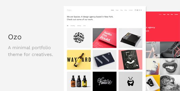 Ozo - Minimal Portfolio WordPress Theme