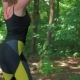 Sporty Girl Training Squats in the Park - VideoHive Item for Sale