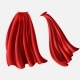 Vector Set of Red Cloaks