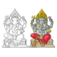 Ganpati with Mouse for Poster Ganesh Chaturthi