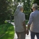 Senior Couple Embracing During Walk in Park - VideoHive Item for Sale