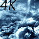Flying Through Abstract Dark Night Thunder Clouds with Lightning Strikes - VideoHive Item for Sale