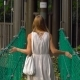 Young Woman and Her Son Walking on the Hanging Suspension Bridge in the Eco Park - VideoHive Item for Sale