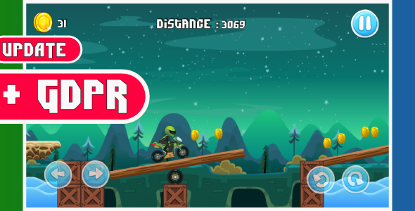 Moto bike race game with GDPR: Android Game - share and review button-easy to reskin            Nulled