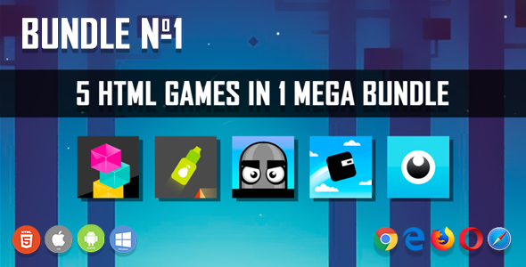 5 HTML5 Games + Mobile Version!!! BUNDLE №1 (Construct 2 / CAPX)            Nulled