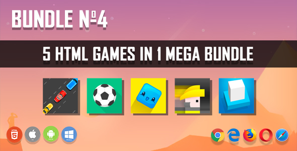 5 HTML5 Games + Mobile Version!!! BUNDLE №4 (Construct 2 / CAPX)            Nulled
