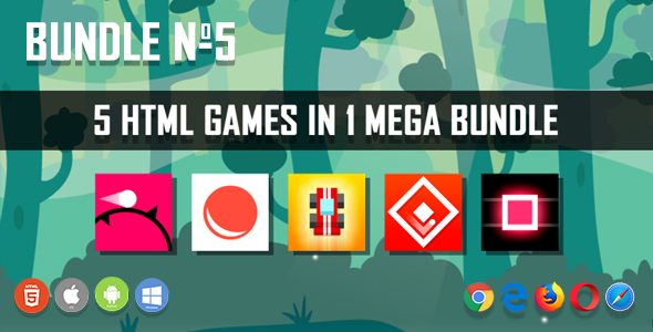 5 HTML5 Games + Mobile Version!!! BUNDLE №5 (Construct 2 / CAPX)            Nulled
