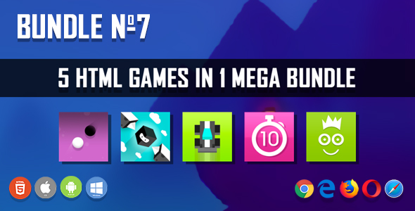 5 HTML5 Games + Mobile Version!!! BUNDLE №7 (Construct 2 / CAPX)            Nulled