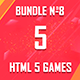 5 HTML5 Games + Mobile Version!!! BUNDLE №8 (Construct 2 / CAPX) - CodeCanyon Item for Sale