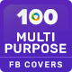 Multipurpose Facebook Cover Templates - 100 Designs