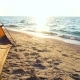 Camping Tent on a Sandy Sea Beach at the Sunrise Time - VideoHive Item for Sale