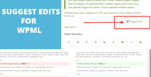Suggest edits For WordPress - CodeCanyon Item for Sale