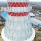 Cooling Tower Rises Above Thermoelectric Power Station - VideoHive Item for Sale