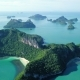 Aerial View of Tropical Islands at Angthong National Marine Park in Thailand - VideoHive Item for Sale