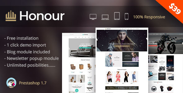 Image of Honour - Multipurpose Responsive Prestashop 1.7 Theme | Fashion Furniture Auto & Electronics