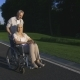 Real Love of Senior Couple with Paralyzed Wife in Park - VideoHive Item for Sale