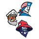 Patriot Seadog and Warlock Mascot Collection