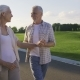Active Positive Seniors Enjoying a Walk in Park - VideoHive Item for Sale
