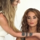 Makeup Artist Using Cosmetic Brush for Makeup Face To Beautiful Woman.  Visagiste Applying Make Up o - VideoHive Item for Sale