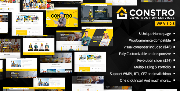 Constro - Construction Business WordPress Theme