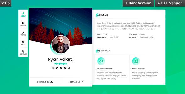Ryan - vCard / Resume / CV Template