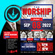 Worship and Praise Square Flyer Template