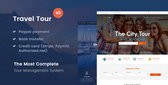 Travel Tour - Tour Booking, Travel Booking WordPress Theme - Travel Retail